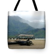 Misty Morning Hanalei Tote Bag