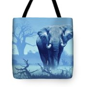 Misty Blue Morning In The Tsavo Tote Bag