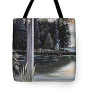 Misty Morning In The Vines 1 Tote Bag