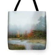 Misty Morning Maine Tote Bag