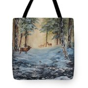 Misty Morning On Cannock Chase Tote Bag