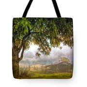Misty Mountain Barn Tote Bag
