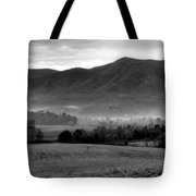 Misty Mountain Morning Tote Bag by Dan Sproul