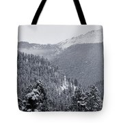 Misty Pikes Peak Tote Bag