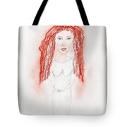 Misty Red Tote Bag