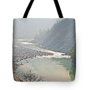 Misty Seti River Rapids In Nepal  Tote Bag