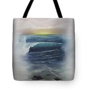 Misty Sun Set Tote Bag
