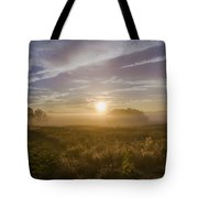 Misty Sunrise At Valley Forge Tote Bag