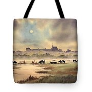 Misty Sunrise - Windsor Meadows Tote Bag
