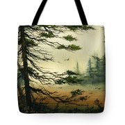 Misty Tideland Forest Tote Bag by James Williamson