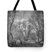 Misty Trees Tryptic Tote Bag