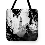 Misty View Of Monserrate Church Tote Bag