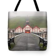 Misty View Of Victorian Pier  Redcar Tote Bag