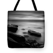 Misty Water Black And White Tote Bag