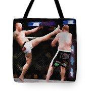 Mixed Martial Arts - A Kick To The Head Tote Bag