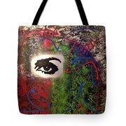 Mixed Media Abstract Post Modern Art By Alfredo Garcia Eye See You 2 Tote Bag