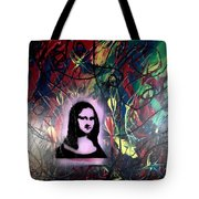 Mixed Media Abstract Post Modern Art By Alfredo Garcia Mona Lisa 2 Tote Bag