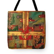 Mixed Media Abstract Post Modern Art By Alfredo Garcia The Blond Bombshell 3 Tote Bag