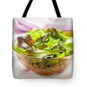 Mixed Salad On Table Tote Bag