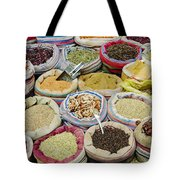Mixed Spices In Market Of Cairo Egypt Tote Bag