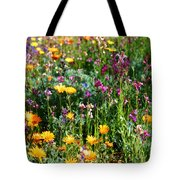Mixed Wildflowers Tote Bag