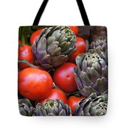Articholes And Tomatoes Tote Bag