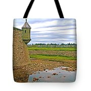 Moat And Wall Around Fortress In Louisbourg Living History Museum-ns Tote Bag