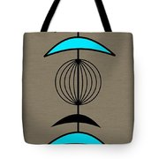 Mobile 3 In Turquoise Tote Bag