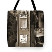 Mobilgas Special - Wayne Pump - Sepia Tote Bag by Mike McGlothlen