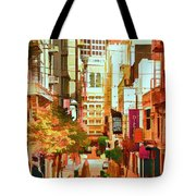 Mocca On Maiden Lane Tote Bag