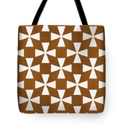 Mocha Twirl Tote Bag by Linda Woods