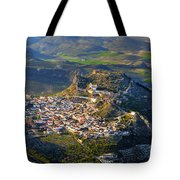 Moclin Castle From The Air Tote Bag