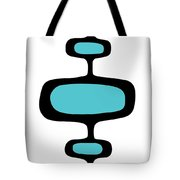 Mod Pod One Black On White Tote Bag