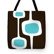 Mod Pod Three White On Brown Tote Bag