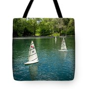 Model Boats On Conservatory Water Central Park Tote Bag