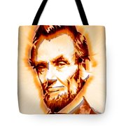 Modern Abraham Lincoln Tote Bag