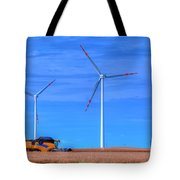 Modern Agriculture And Wind Turbines Tote Bag