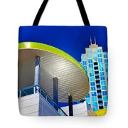 Modern Architecture With Blue Sky Tote Bag
