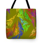 Modern Art Abstract Fractal Green Background Tote Bag