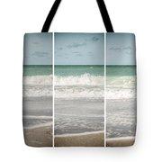 Modern Beach Tryptych Tote Bag