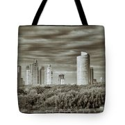 Modern Buenos Aires Black And White Tote Bag by For Ninety One Days