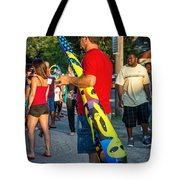 Modern Day Cave Man Tote Bag