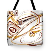 Modern Drawing Twenty Tote Bag