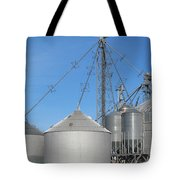 Modern Farm Storage And Towers Tote Bag