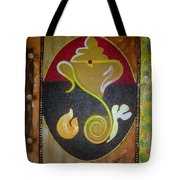 Mixed Media Ganesha Tote Bag