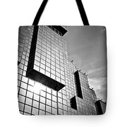 Modern Glass Building Tote Bag