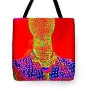 Modern Mesh Mosaic Tote Bag
