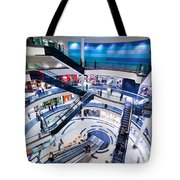 Modern Shopping Mall Interior Tote Bag