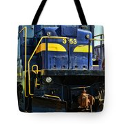 Modern Train Engine Tote Bag