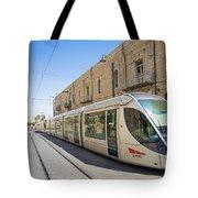 Modern Tram In Jerusalem Israel Tote Bag